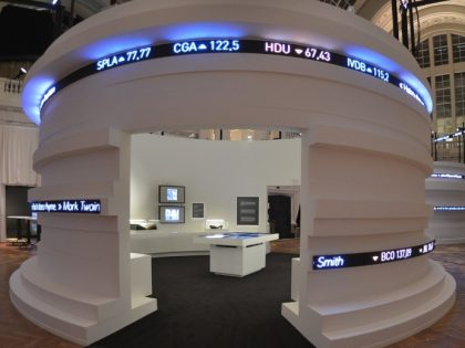 Flexible LED strip display indoor pitch 6mm  for 'Behind the numbers' architectural LED exhibition – Brussel
