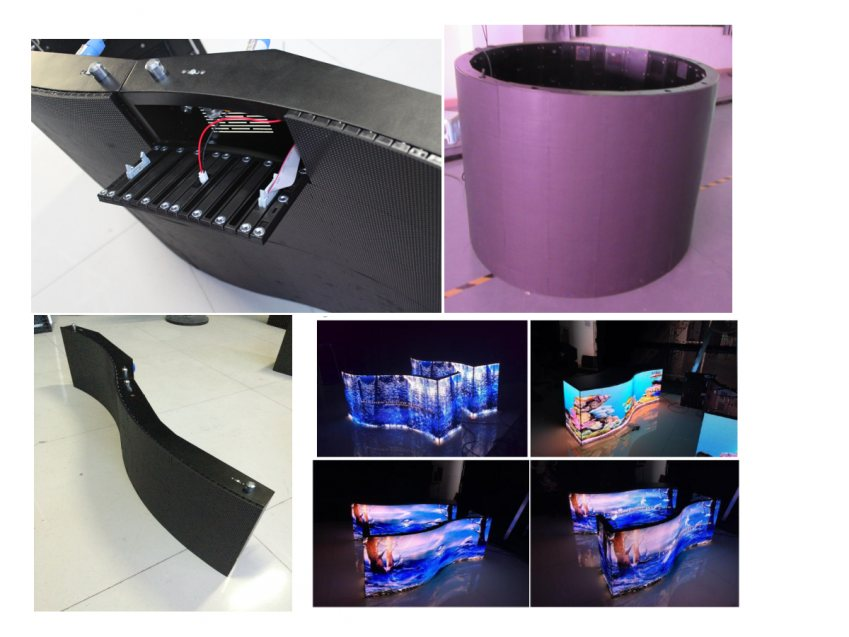 Curved Flexible LED Display