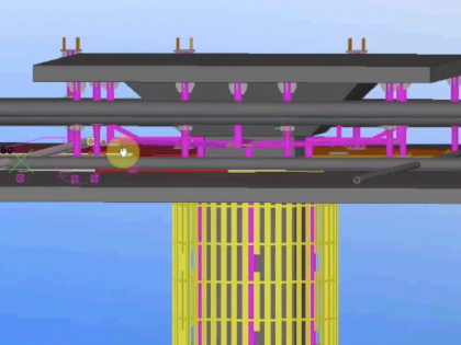 Engineering Drawing 3D Model Flexible Bendable Curved LED Schiphol Airport Amsterdam