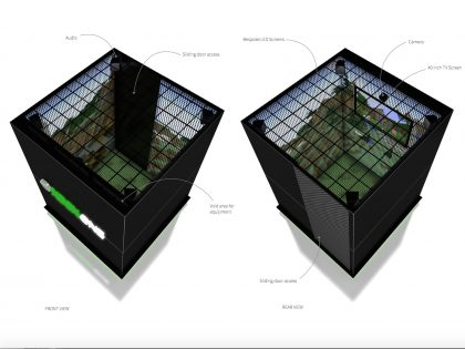Custom Architectural LED Display for XBOX One Experience Pod