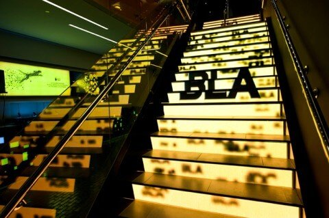 led-stairs display light