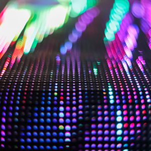 Bright colored LED smd wall with corner - close up background