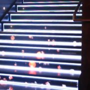 led screen stair cases