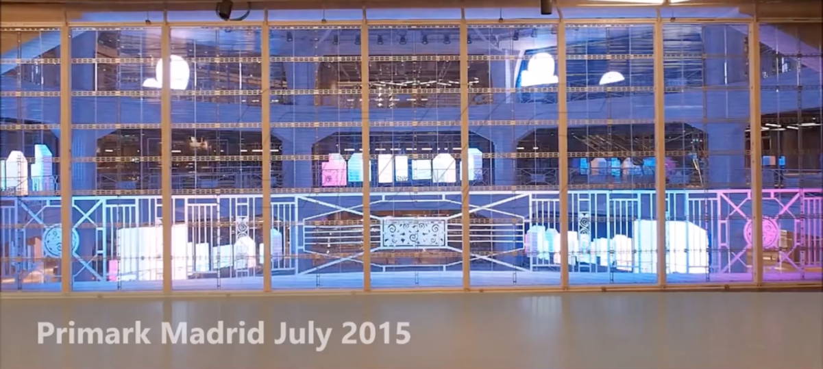 primark madrid LED installation