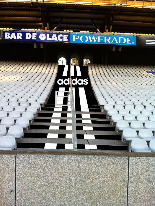 adidas led stairs advertising