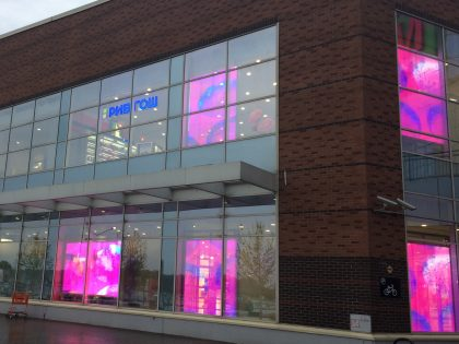 Transparent LED display for Rive Gauche, in Khimki, Russia